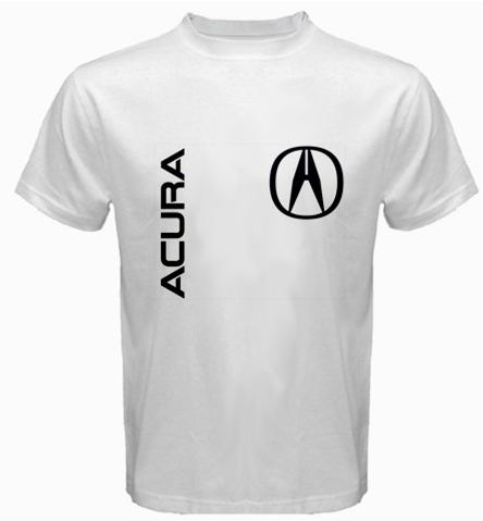 Acura Car Logo White Cotton TShirt - Acura shirt