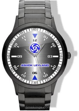 Ashok Leyland Logo Black Stainless Steel Watch