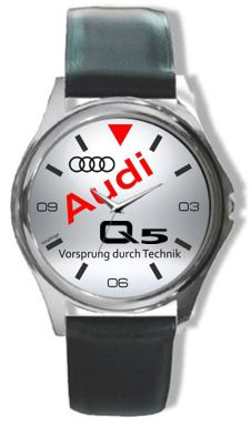 Audi Q Logo Leather Watch - Audi watch