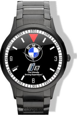 Bmw I8 Logo Black Stainless Steel Watch