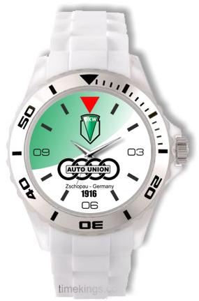 Dkw Auto Union Logo White Silicone Watch