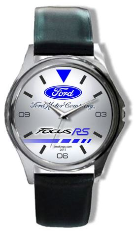 Ford Focus Rs Logo Leather Watch