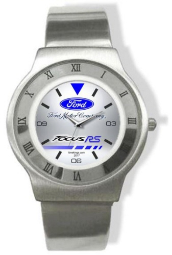 ford focus rs logo steel watch