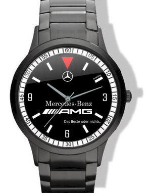 mercedes benz amg black steel watch. Black Bedroom Furniture Sets. Home Design Ideas