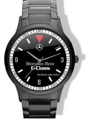 mercedes-benz e-class black steel watch