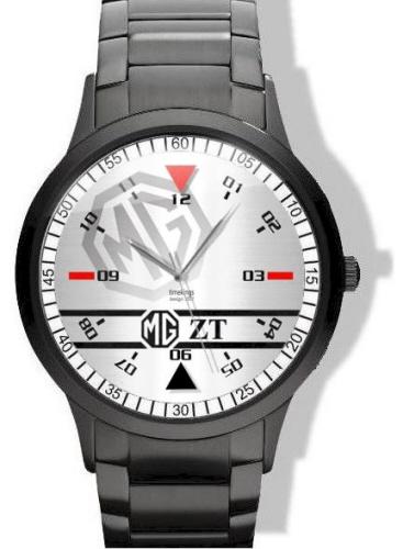 MG ZT Logo Black Steel Watch