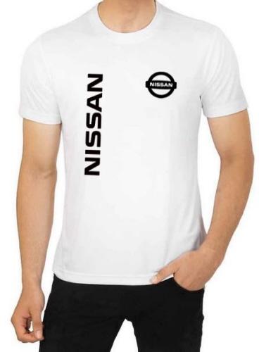 Nissan Logo White Cotton T Shirt