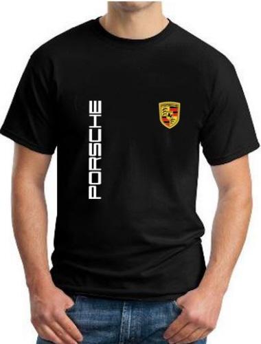 porsche logo black t shirt. Black Bedroom Furniture Sets. Home Design Ideas