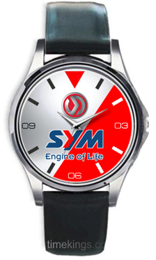 SYM Motorcycles Logo Leather Watch