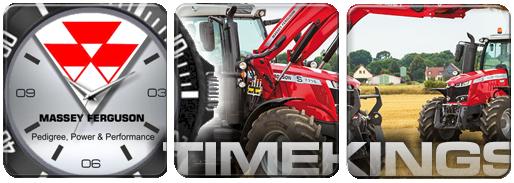 Massey Ferguson Tractors Logo Leather Watch Silicone